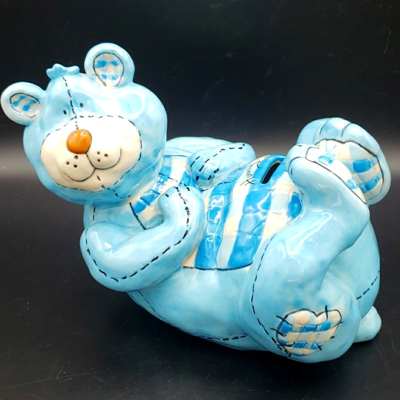 Blue Sky Heather Goldminc Baby Bear Piggy Bank